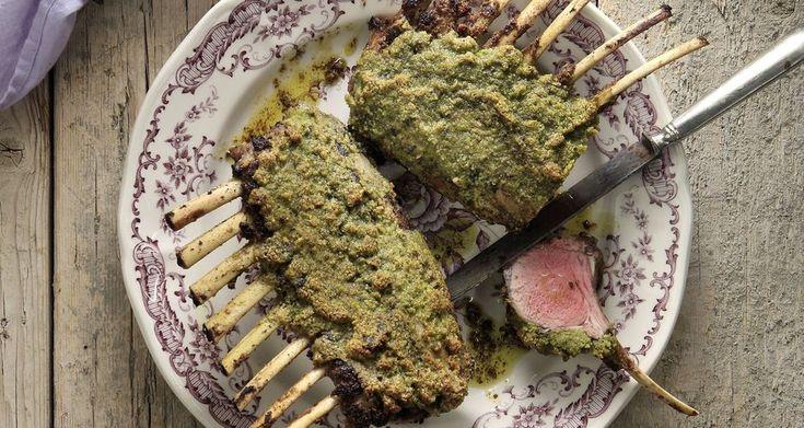 Pistachio Crusted Roasted Lamb Chops