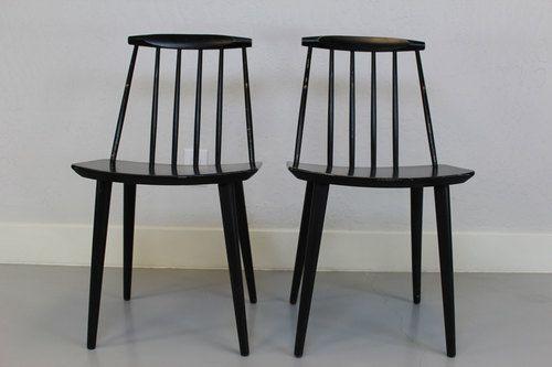 Folke Paisson Stickback Side Chairs