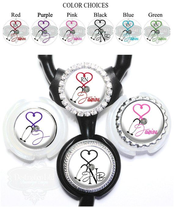 Gift for Nursing Student A423 Pretty Badge Reel with Bling Badge Clip Retractable Heart Badge Reel with Name Nurse Badge Reel Floral