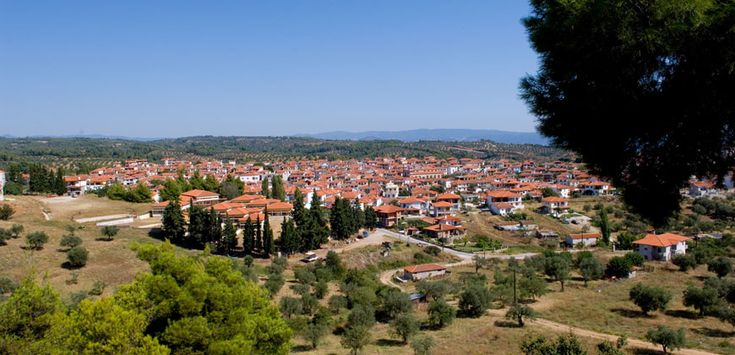 Panoramic view of Agios Nikolaos village in #Halkidiki #Greece