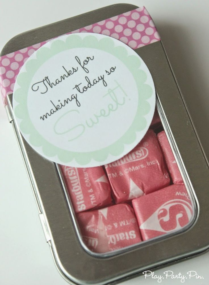 Simple Baby Shower Or Bridal Shower Favor Idea With Free Printable Tag .  DIY Baby Shower Favors And DIY Baby Shower Ideas