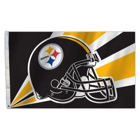 Pitt Steelers Helmet 3X5 Flag, Multicolor