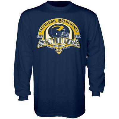 Michigan Wolverines 2013 Buffalo Wild Wings Bowl Bound Long Sleeve T-Shirt - Navy Blue