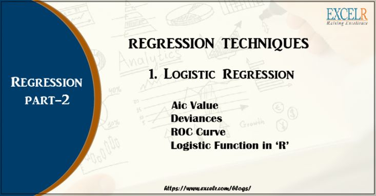 LOGISTIC REGRESSION  Some techniques help in solving any problem. Read more on logistic Regression here at: https://www.excelr.com/19775-2/ #ExcelR #logisticRegression
