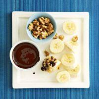 Banana With Dark Chocolate-Honey Sauce: Healthy Desserts Recipe, Chocolate Honey Sauces, Chocolates Chips, Dark Chocolates Honey, Chocolatehoney Sauces, Bittersweet Chocolates, Honey Butter, Dark Chocolatehoney, Chocolates Honey Sauces