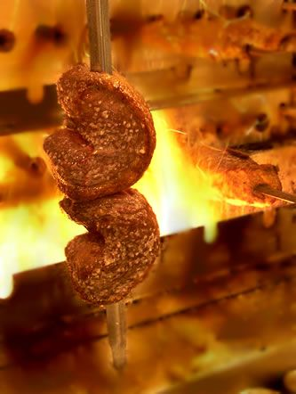 All of Tucanos' meat is roasted over an open flame.