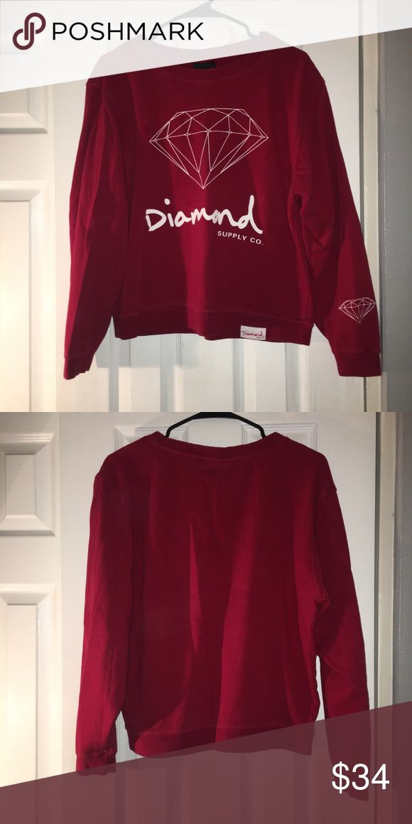 Diamond Supply Co Crewneck Sweatshirt! Super Comfortable and soft on the inside! Worn a couple of times but is in great condition! Diamond Supply Co. Tops Sweatshirts & Hoodies #DiamondSupply