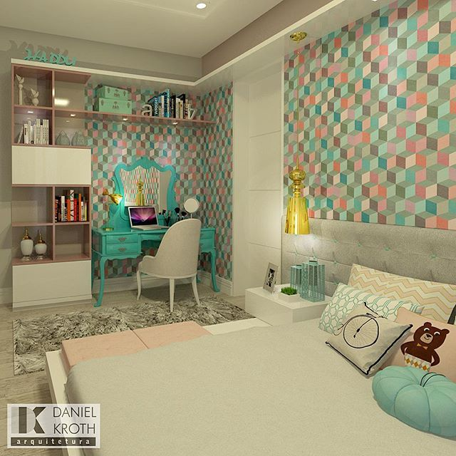 Retro Bedroom Wallpaper Bedroom Ideas Yellow Walls Eclectic Bedroom Decorating Ideas Kids Bedroom Wallpaper Designs: 328 Best Quarto Feminino Images On Pinterest