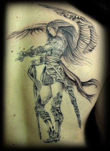 14 best farm angel tattoos images on pinterest angels tattoo guardian angels and angel devil. Black Bedroom Furniture Sets. Home Design Ideas