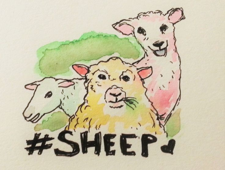 Jennifer Lindroos (@tweetyloop) | Twitter - happy sheep for #saturdayscribbles