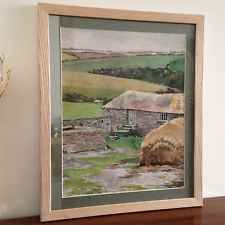 Cornish Watercolour; ' Porthcothan Farm,1948' (Part 1) signed by artist.
