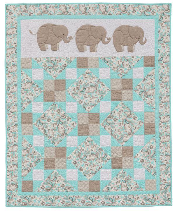 Pachyderm Pals elephant quilt