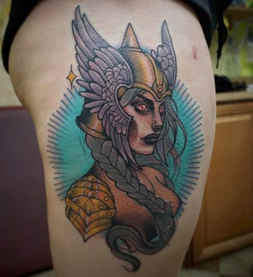 Best Tattoo inspiration 2017 - tattoosbyanya:Thanks so much Kiia for this Valkyrie! Good luck...