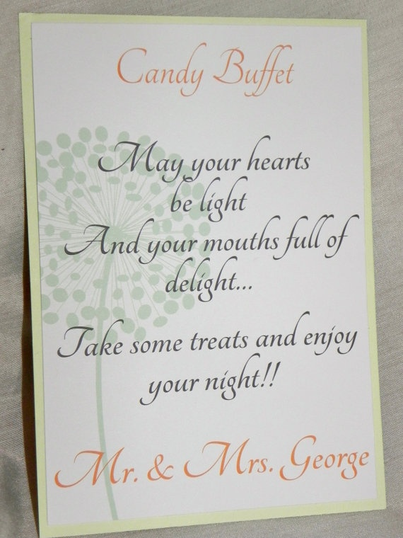 Wedding Sign/Candy Buffet Sign/Sweets Table Shop: www.etsy.com/shop/mysentimentsinvites