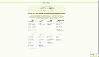 Try Budgeting with Free PearBudget Spreadsheet: PearBudget Budget Category Set Up