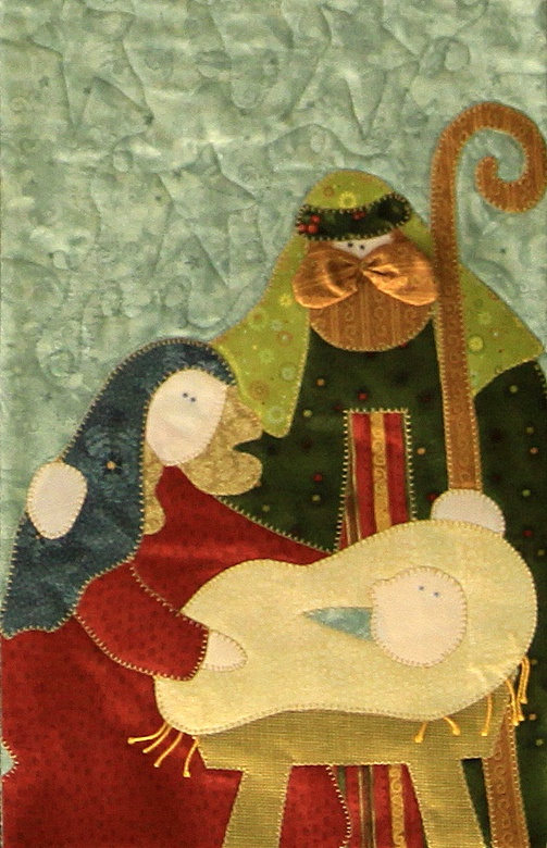 """""""Nativity"""" by Kerry Grunwald (close-up), New Braunfels Area Quilt Guild 2009"""