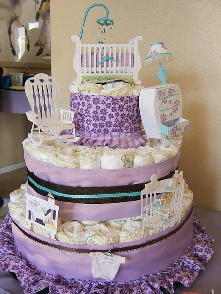 baby shower cake  #projects-and-ideas: Nurseries Baby, Baby Shower Cakes, Babyshower Ideas, Diapers, Diaper Cakes, Babyshower Diapercakes, Craft Ideas, Shower Gift, Baby Showers