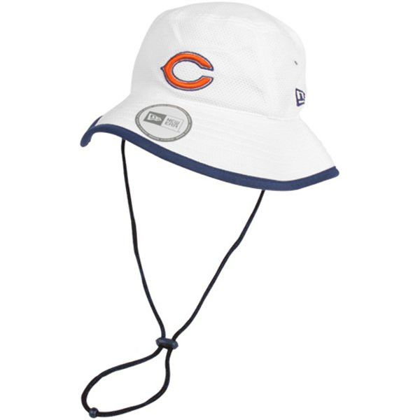 c0e7ee1766439 Chicago Bears New Era NFL 2014 Training Camp Bucket Hat-White ...