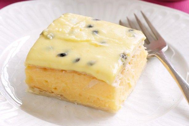 Classic vanilla slice - We can't resist the classic vanilla slice.