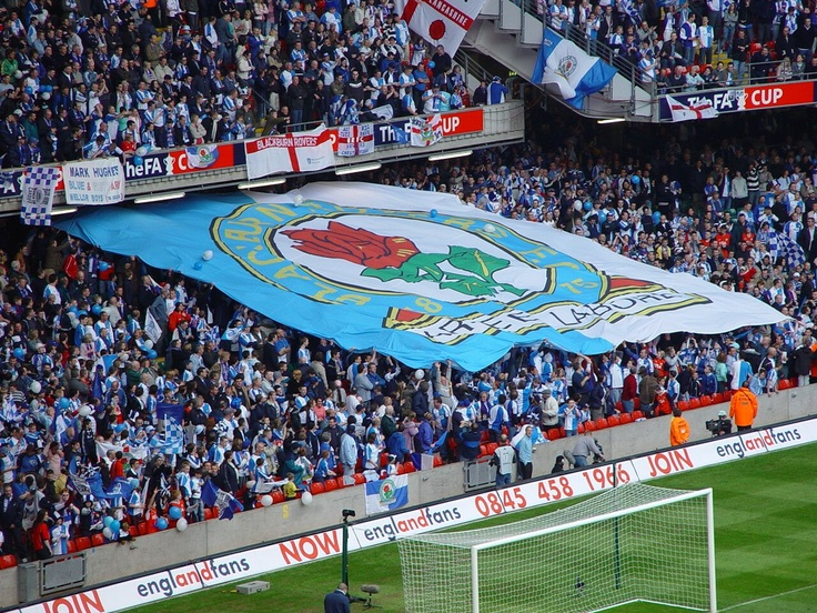 Blackburn Rovers giant crowd flag produced by us