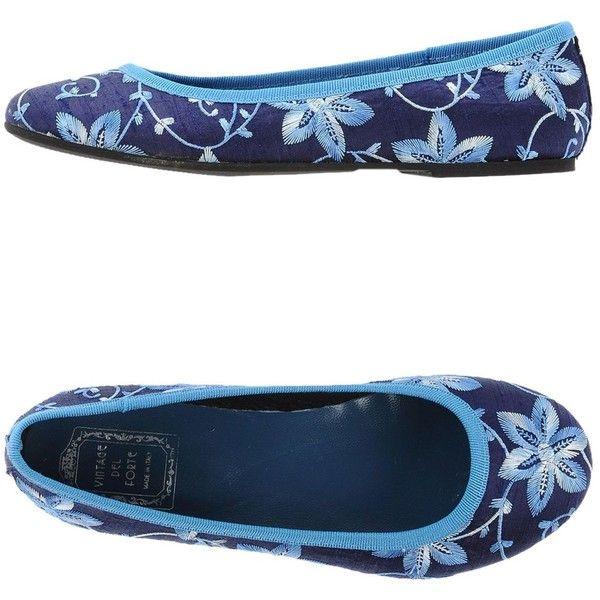 Vintage Del Forte 1973 Ballet Flats ($38) ❤ liked on Polyvore featuring shoes, flats, blue, ballet pumps, floral flat shoes, floral ballet flats, ballet flats and ballet flat shoes