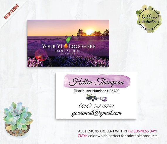 The 477 best young living images on pinterest yl business card essential oil business card personalized yleo marketing card printable file custom business card yl01 colourmoves