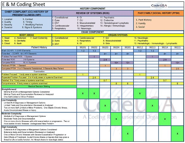 1995 Coding Guidelines Audit Sheet Trailblazer Audit Tool
