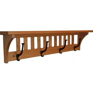 coat rack mission solid oak wood wall mounted shelf custom in home u0026 garden household supplies u0026 cleaning home coat u0026 hat racks