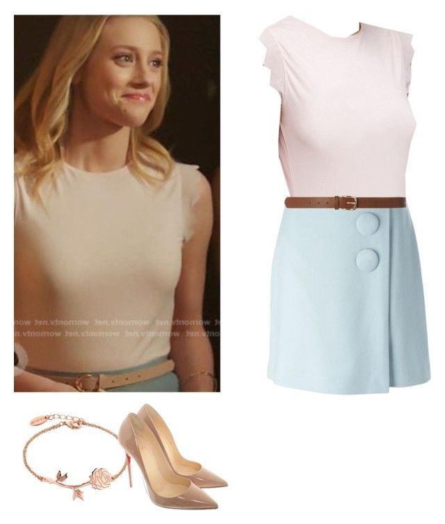"""Betty Cooper - Riverdale"" by shadyannon on Polyvore featuring Ted Baker, ADAM, Dorothy Perkins and Christian Louboutin"