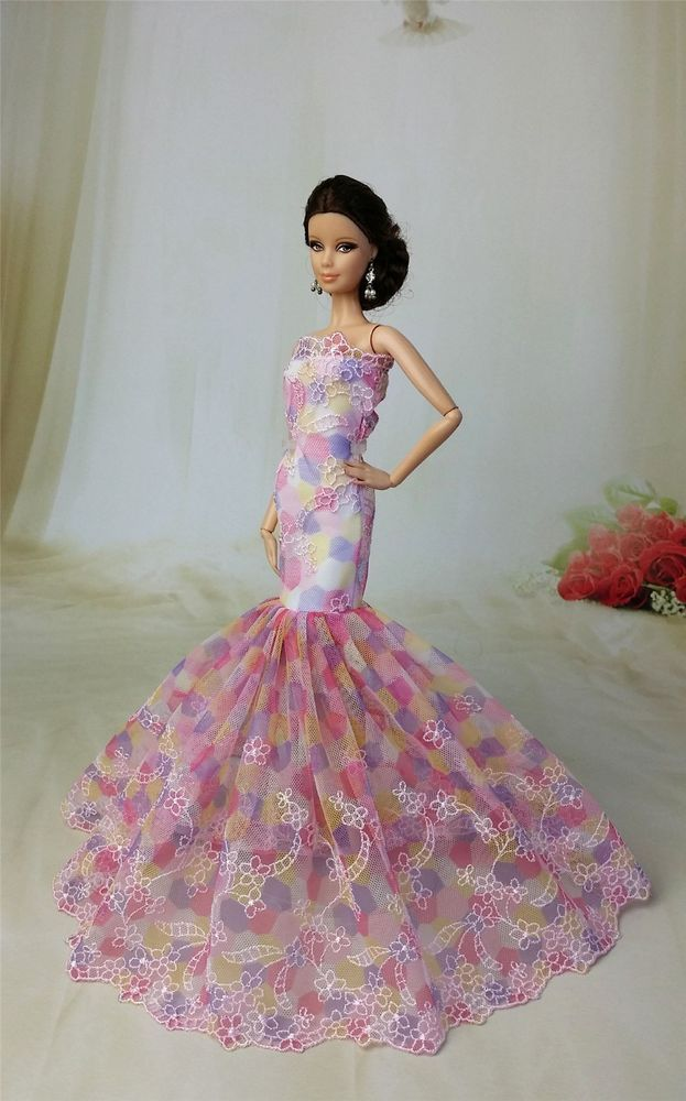 Black Fashion Royalty Princess Dress/Clothes/Gown Veil For Barbie Doll S181A. Fashion Royalty Princess Dress/Clothes/Gown for Barbie Doll S186. 10 Sets Fashion Outfits/Clothes For Barbie's boy friend Ken Doll. | eBay!