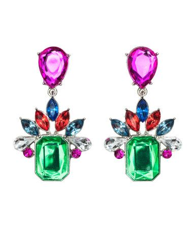 Earrings in a rainbow of colors. H&M. #ACCESSORIZEINHM