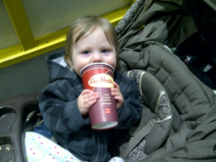 Never too young to start loving Tim Hortons