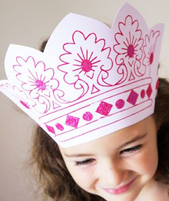 16 Best Diy Princess Crown Template Amp Party Ideas Images