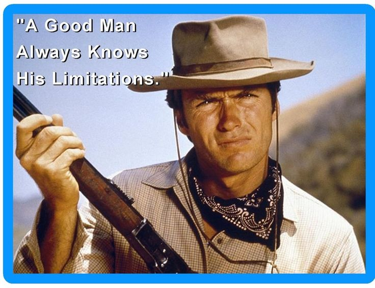 Clint Eastwood Quote Refrigerator / Tool Box Magnet Man Cave Room