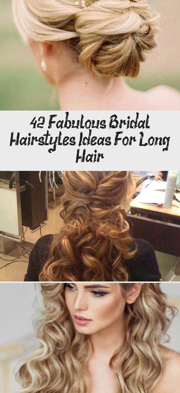 42 Fabulous Bridal Hairstyles Ideas For Long Hair #bridesmaidhairBrunette #bridesmaidhairWithFlower #bridesmaidhairMessy #bridesmaidhairBraid #bridesmaidhairSleek