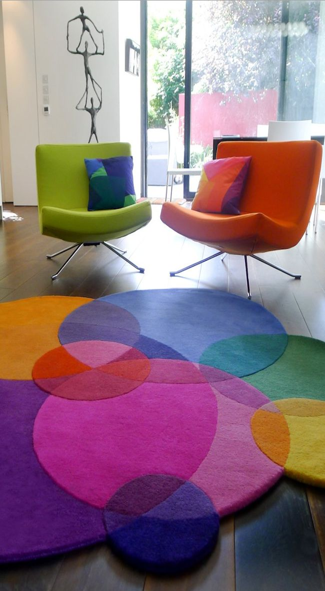 Rug designed by Sonya Winner, really needs these chairs too.