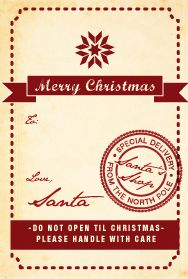 The Home She Made: Santa wrapping and labels