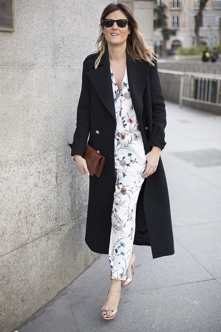 http://stylelovely.com/guiadeestilo/2016/02/24/flower-print-trend/ flowers #mnoo #mango #trend #flowerprint #longcoat #maxicoat #madrid #spring