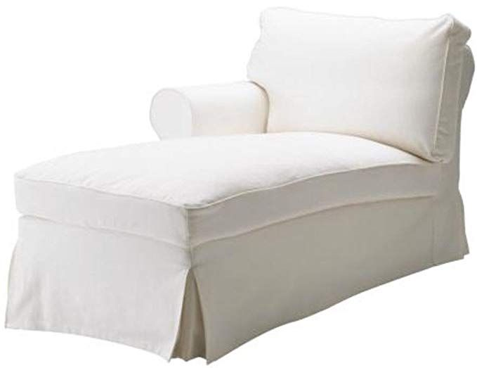 The White Ektorp Chaise With Arm Thick Cotton Cover