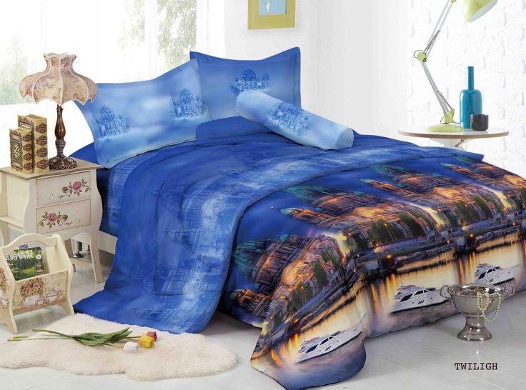 "TWILIGHT - ""Hadirkan dimensi baru dalam koleksi motif sprei dan bed cover kamar dengan motif Twilight, design menawan berlatarkan bangunan yang unik dan Luxury"""