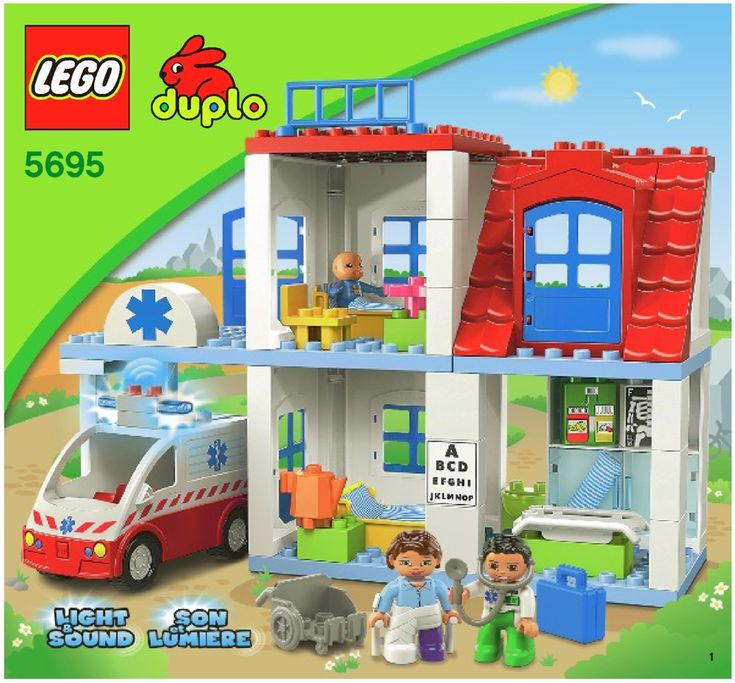 LEGO Doctor's Clinic Instructions 5695, Duplo