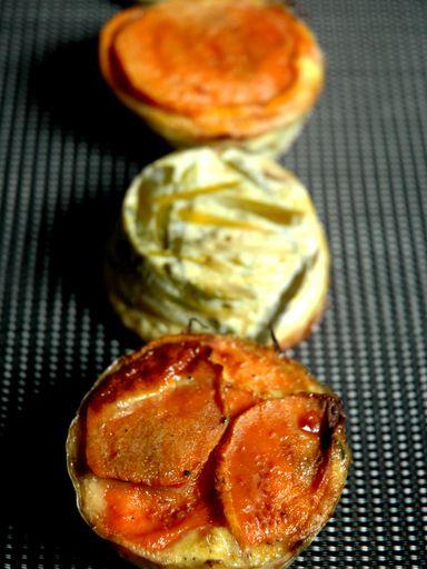 Petits tians de poireaux et patates douces