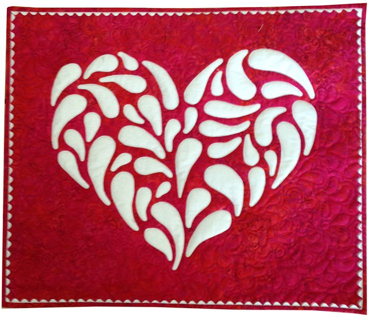 Applique heart by Teresa Henderson Tope