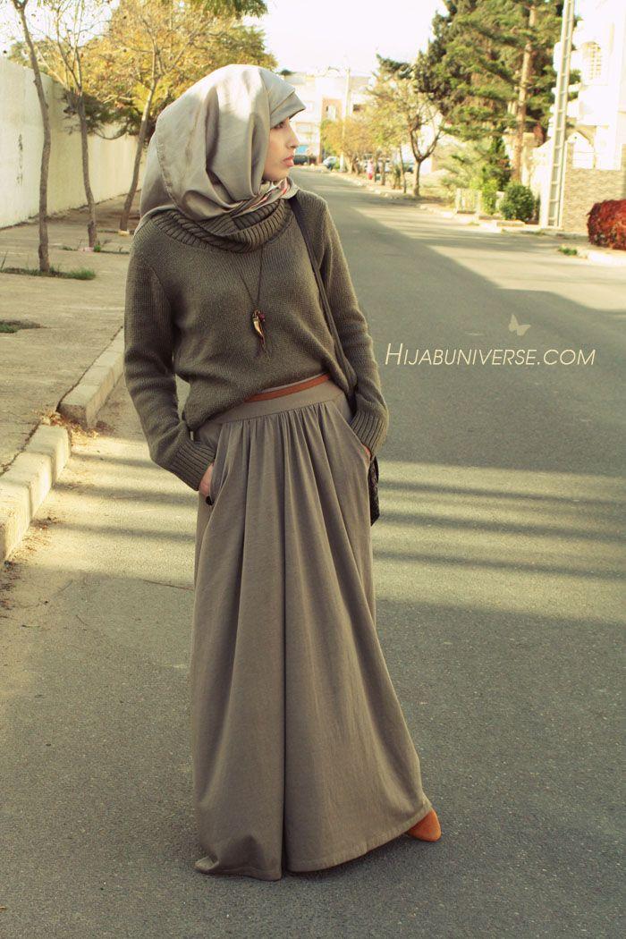 elbow patch sweater hijabuniverse.com