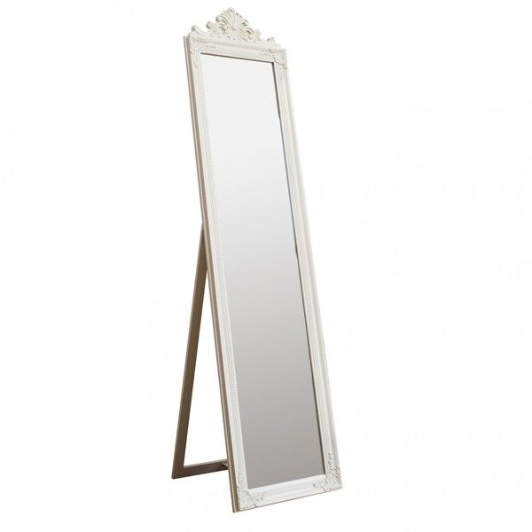 Lisbeth Cheval Mirror White (€115) ❤ liked on Polyvore featuring home, home decor, mirrors, fillers, furniture, mirror, floor mirrors, full length mirror, white home accessories and white standing mirror