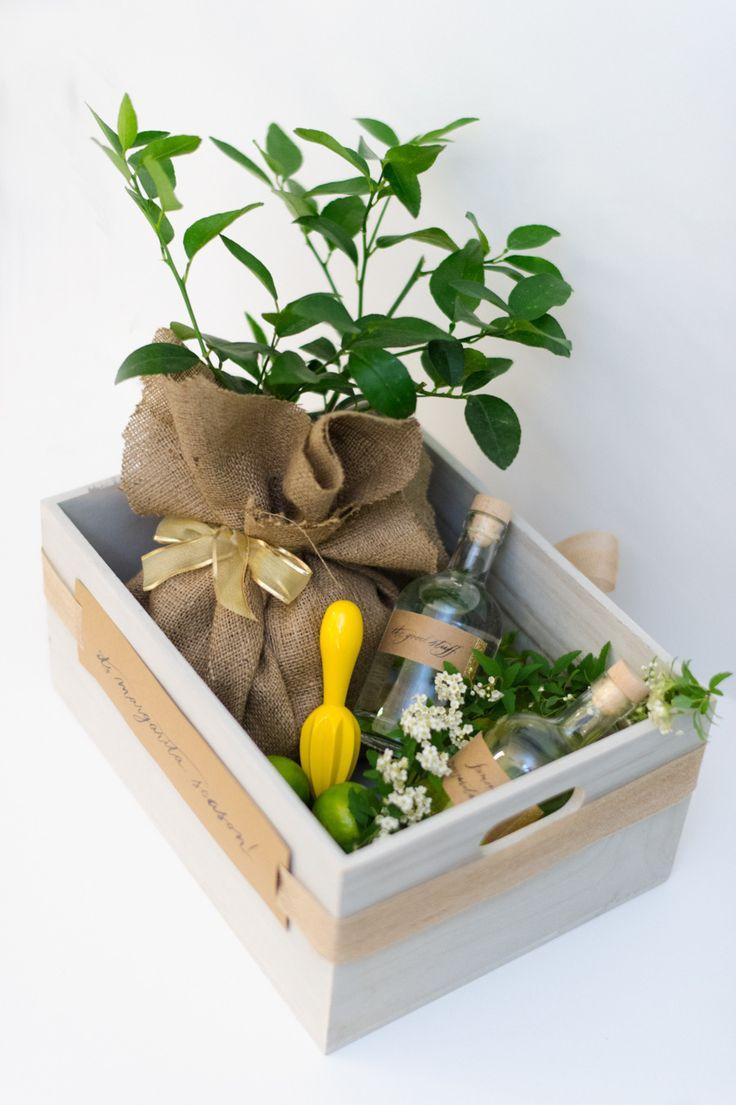 Diy margarita gift crate gift crates diy gift baskets