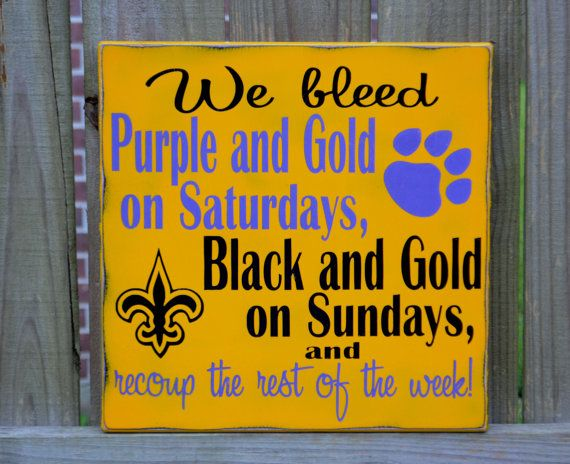 15 x 15 LSU Tigers New Orleans Saints FOOTBALL Custom by CSSDesign, $50.00