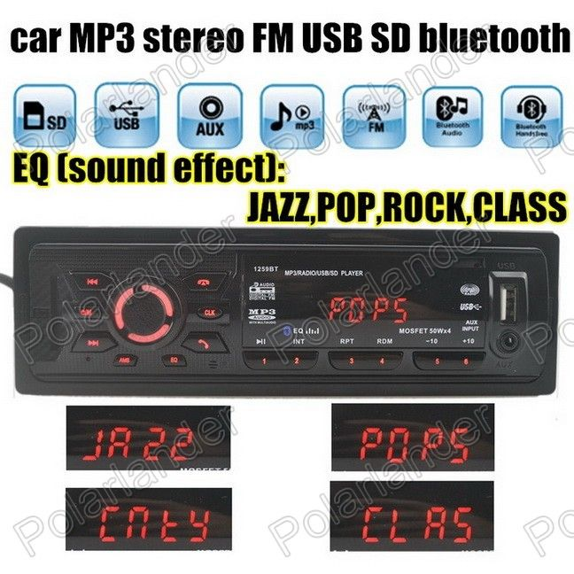Car Audio 1 din auto radio Auxin Car Radio bluetooth music phone MP3 FM USB universal 1 Din remote control USB port