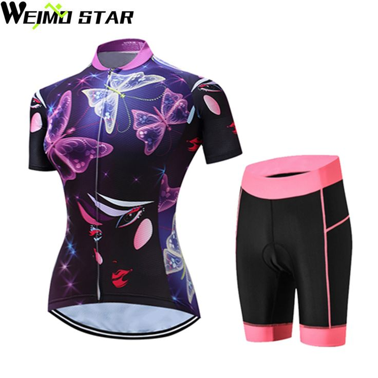 WEIMOSTAR Women Cycling Jerseys Ropa Ciclismo Pro Team Cycling Clothing Shorts Sets Breathable Bicycle Wear Maillot Bike Clothes