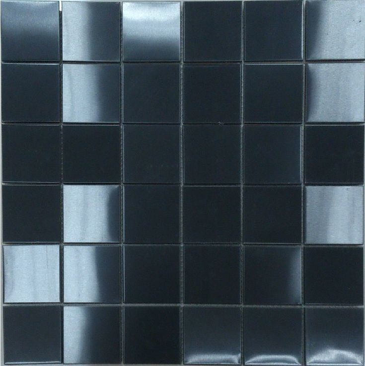 Black Metal Mosaic Tile Backsplash Google Search